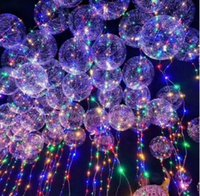 Wholesale Led Light Headwear - New bobo ball wave led line string balloon light with colored light for Christmas Halloween Wedding Party children home Decoration