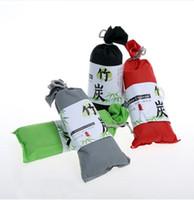 bambuskohletaschen großhandel-100g auto lufterfrischer auto luftreiniger zubehör duft japanischen multifunktions kohlebeutel beseitigen gerüche bambuskohle