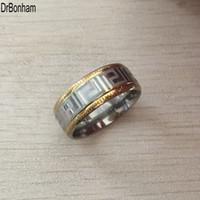 europäische schlüsselringe groihandel-2017 neue mode europäischen USA Super Deal Ring männer edelstahl gold silber griechischen schlüsselanhänger Paar Ringe Freies Verschiffen