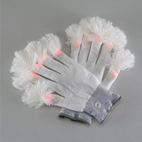 Wholesale Glow Toys Flower - Led Gloves Luminous Flower Finger Light Gloves Party Supplies Dancing Club Props Light Up Toys Glowing Gloves ZA3705