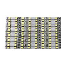 duro industrial al por mayor-4 mm de ancho brillo 100cm fábrica al por mayor dos filas de blanco / cálido blanco DC 12V 72 SMD 2835 LED tira rígida barra de luz LED