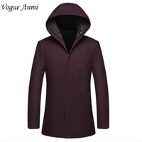 Wholesale Trench Coat Vogue - Wholesale- Vogue Anmi. 2016 new arrival men's wool coat medium-long male thickening cashmere large outerwear winter trench sizeL XL 2XL 3XL