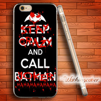 Wholesale Iphone 4s Batman - Coque Joker and Batman Soft Clear TPU Case for iPhone 7 6 6S Plus 5S SE 5 5C 4S 4 Case Silicone Cover.