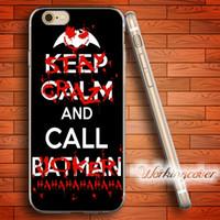 iphone 5s batman silikon kılıf toptan satış-Coque Joker ve Batman Yumuşak Temizle TPU Kılıf iphone 7 6 6 S Artı 5 S SE 5 5C 4 S 4 Durumda Silikon Kapak.