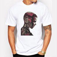 Wholesale Wholesale Hipster Fashion - Wholesale- New 2017 Fashion Stranger Things Print T-shirts Original 3d Character Design Mens T Shirts Summer Hipster Tops Tshirt Homme
