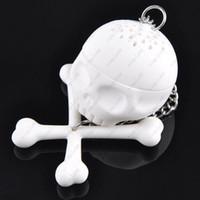Wholesale Arrival Fashion Silicone T Bones Skull Tea Infuser Loose Tea Leaf Health tea Strainer Herbal Spice Filter Diffuser for beauty