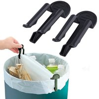 Wholesale Trash Can Bag Holder - 10pcs lot Practical Trash Can Clamp Plastic Garbage Bag Clip Fixed Waste Bin Bag Holder Rubbish Clip