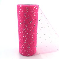 Wholesale black organza roll for sale - Graduation Party Decoration DIY Crafts Organza Roll inch yards Soft Nylon Glitter Sequins Party Wedding Decoration Mariage T