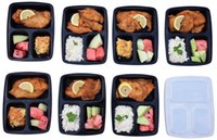Wholesale Meal Prep Containers Microwave Food Storage Portion Control Disposable Containers Lids Bento Box Lunch Box Tray with Cover LJJH1463