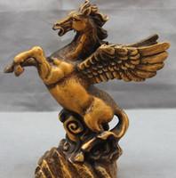 Wholesale Horse Bronze Sculpture - Chinese Bronze Copper Sculpture Home Decoration Auspicious Pegasus Horse Statue