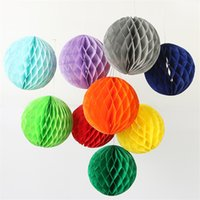 "Wholesale Craft Lantern Decoration - 6"" Decorative Paper Balls Tissue Party Decorations Paper Honeycomb Ball Pom Poms Lantern Party Decor Craft Wedding Event Party Supplies 15cm"