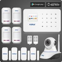 ip kamera gsm toptan satış-LS111-Kablosuz wifi ip kamera + KERUI G18 gsm ev alarm sistemi + manyetik + hareket dedektörü hırsızlık suculity alarm kiti Iki yıl garanti