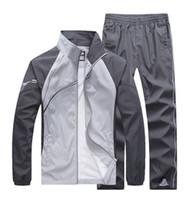 erkekler patchwork takım elbise toptan satış-Moda erkek rahat eşofman patchwork spor mont ceket + pantolon setleri mens hoodies ve tişörtü dış giyim takım elbise M-5XL ücretsiz kargo
