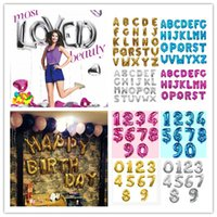 """Wholesale Letter Z Balloons - 16 """"40 Inch Numbers 0- 9 Letter A-Z Alphabet Foil Balloons Happy Birthday Party Wedding New Year Christmas Decoration Event Party Supplies"""