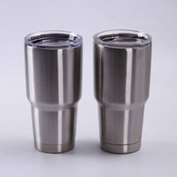 Wholesale Wine Cup Lid Wholesale - Ramblers Tumblers 20oz 30oz Stainless Steel For YETI RTIC Style Wine Glass Cup Travel Vehicle Beer Mugs Vacuum Insulated Double Wall Cup
