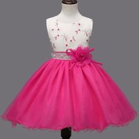 Wholesale Bud Light Dress - New Flower Girl Princess Dress For First Communion Party Formal Wear Shiny Tulle Tutu Wedding Gown Children Clothing 10 Years
