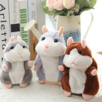 conversa de pelúcia venda por atacado-Atacado- 1 pcs 15CM Linda Falando Hamster Toy Plush Falar Bonito Falando Gravar Hamster Talking Toys for Children venda