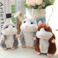 Wholesale Hamsters Sale - Wholesale- 1 pcs 15CM Lovely Talking Hamster Plush Toy Cute Speak Talking Sound Record Hamster Talking Toys for Children sale