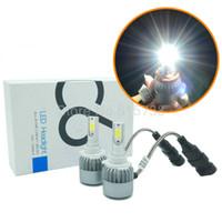 xenon projektör ışığı toptan satış-Kolay yüklemek LED Far Dönüşüm Kiti 9006 HB4 36 W 3800LM projektör Üst HID Xenon 12 V Araba Oto Sis Ampul Lamba