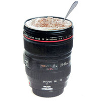 Wholesale Wholesale Eco Friendly Cups - Camera Lens Plastic Coffee Mugs Canons Cup 2 Generation Of Len Mugs For Canon Fans Photography Novelty Gifts