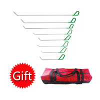 Wholesale Gift Bag Hooks - PDR Rods Hooks Car Crowbar Paintless Dent Repair Tools PDR Tool Kit For Car Dent Removal Herramentas + Tool Bag as GIFT