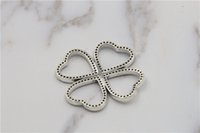 Wholesale Bulk Beads Pendants - Authentic 925 Sterling Silver bulk charms Four-leaf Clover Pendant Beads luxury jewelry charm and pendants fit pandora