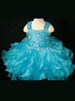 Wholesale Cheap Girl Bow Ties - Girl's Pageant Dresses New Eugen yarn fluffy skirt children's cake skirt bow tie zipper heavy hand flower children's wear cheap mail