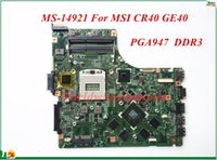 Wholesale Intel Motherboard Msi - High Quality Motherboard MS-14921 For MSI CR40 GE40 Laptop Motherboard PGA947 DDR3 100% Tested&Testing Video Support