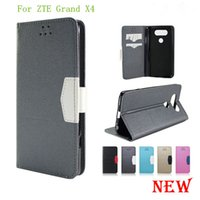 Wholesale Cover Zte Grand X - For ZTE Grand X4 Z956 Grand X Max 2 Z988 Z963U Kirk Flip PU leather high quality wallet cover case with stand