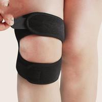 Wholesale Knee Stabilizer Wrap - 1pcs Patella Support Adjustable Knee Brace Sleeve Wrap Cap Stabilizer Sports Black Shock Absorption Ventilation Motion Kneepad 8sn J1