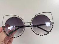 Wholesale Men S Fashion Polarized Sunglasses - Designer Women Sonnenbrille 16 S Silver Black Gray Lens Cat Eye Sunglasses Brand New With Case