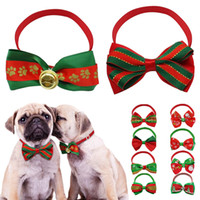 Wholesale Accessories For Dogs Wholesale - Cute Christmas Dog Bow Tie Cat Cloth Lace Decoration Puppy Necktie Necklace Accessories Christmas Gift for Dogs