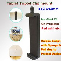 "Wholesale Tablet Pc Tripod Mount - Wholesale-Factory New Stable Double 1 4"" Screw head Tablet pc Selfie Stick Tripod Clip mount adapter for iPad mini Gimi Z4 Air Projector"