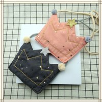 New Baby Girls Bags Coreano Star Crown Princess Messenger Bag Moda Crianças Mudar Bolsa Kids Mini Bags C1801