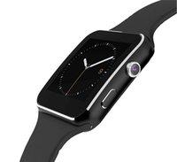 ingrosso iphone android mobile-Schermo curvo X6 Smartwatch Smart Phone Telefono braccialetto con slot per schede SIM TF con fotocamera per iPhone Samsung LG Sony Tutti i telefoni cellulari Android