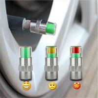 Wholesale Car Diagnostic Tool Sensor - 4PCS set 2.4Bar 36PSI Auto Car Tire Pressure Monitor Valve Stem Caps Sensor Indicator Eye Alert Diagnostic Tools Kit