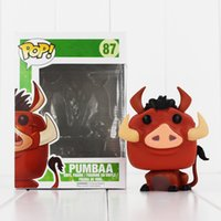 Wholesale Lion King Action Figures - 10cm New hot sale funko pop The Lion King Simba Pumbaa Toy PVC Action Figure Collectible Pumbaa Kids Toys Gifts retail