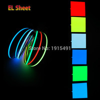 Wholesale Novelty Sheets - Wholesale- 6 Color Optional Glowing 10X10CM Novelty Lighting EL Sheet el panel for Holiday decoration,dispaly,energy saving+DC-3V Drives