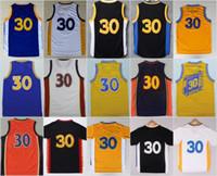 Wholesale Chinese M - #30 Stephen Curry jersey the city throwback jersey Davidson Wildcats blue white yellow Chinese jersey SWINGMAN jerseys