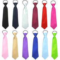 Wholesale Elastic Neckties - 16colors Kids solid color necktie photo props boys girls ceremony performance party elastic cord simple tie