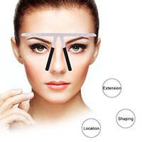 Wholesale Wisdompark Eyebrow Balance Ruler Eyebrow Ruler Measure Tool Makeup Tattoo Eyebrows Stencil Template
