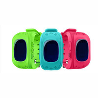 reloj gsm gprs al por mayor-Reloj inteligente Reloj infantil para niños GSM GPRS Localizador GPS Rastreador anti-perdidos Reloj inteligente para niños Android iOS