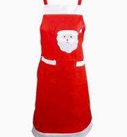 yılbaşı hediyeleri pişirme toptan satış-Noel Mutfak Önlükleri Noel Baba Baskılı Noel Hediyeler için Dekorasyon Önlük Pişirme Pişirme BARBEKÜ için Sıcak Satış