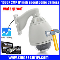 Wholesale Auto Tracking Ip Ptz - Freeship1080P 2MP auto tracking high speed PTZ ONVIF PTZ IP video surveillance pan camera with 20x zoom phone view support