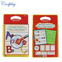 Wholesale Toy Magic Drawing Board - Coolplay Water Drawing Book Coloring Book Doodle with 1 Magic Pen Painting Board Juguetes For Children Drawing Toys 2107350