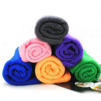 Wholesale Cat Beds Free Shipping - Wholesale- 70*30cm Fast Drying Pet Grooming Microfiber Towel Pet Products for Pet Dog Cat Free Shipping color send at random1XQ145