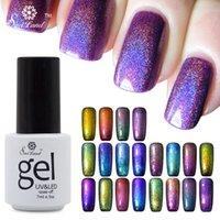 Wholesale Glitter Soak Off Gel Polish - Wholesale-Saviland 1pcs Colorful Phantom Chameleon UV LED Gel Nail Polish Soak Off New Arrival 3D Glitter Manicure Nails