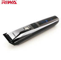 RIWA impermeabile Trimmer di capelli Display LCD Uomo Clipper ricaricabile One Piece Biuld-in Pettine Design Haircut Machine K3