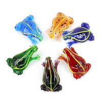 Wholesale Glass Frog Charms - 3D Frog Glass Pendants Made by hand Lampwork Animal Charms Pendants For Children Jewelry Necklaces 12pcs box, MC0072