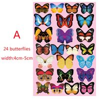 Wholesale Home Fridge - 3D Butterfly Wall Stickers 12PCS Decals Home Decor for fridge kitchen room living room home decoration